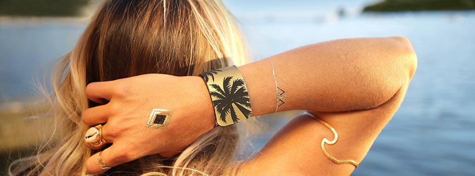 mosquito repellent wristband gold evening wear
